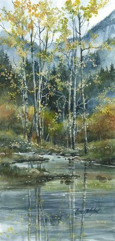 Fall Aspens | Lance Johnson Paintings