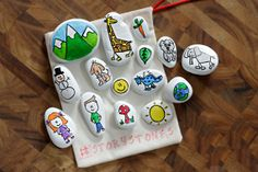 Hand Painted Story Stones WHITE WASHED Set 20 by TheSweeterSideMom, fun, fun