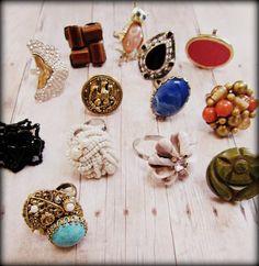 DIY rings from clip on earrings!
