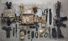 A few accessories you need! Tactical Wear, Tactical Rifles, Plate Carrier Setup, Armas Airsoft, Battle Belt, Combat Gear, Tac Gear, Tactical Equipment, Military Guns