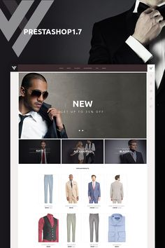 Vestes PrestaShop Theme Big Screenshot
