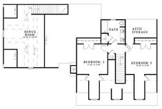 Cape Cod House Plan 62134 Level Two