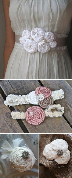 DIY Fabric Rosette Accessories.Love this idea