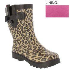 I need some rain boots really badly; and I love cheetah print!