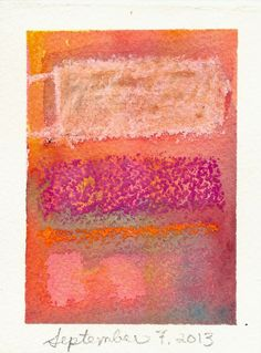 Mixed Media Artwork  Pink Rothko Inspired  Abstract by KiteFlier, $25.00
