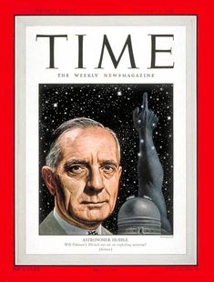 TIME Magazine Cover: Edwin P. Hubble - Feb. 9, 1948 - Astronomy - Telescopes - Science & Technology