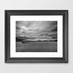 Ship on Lake Staffelsee (Murnau) Framed Art Print by Rainer Steinke - $40.00