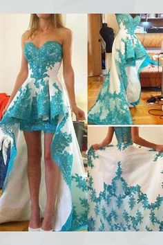 2016 Newest Short Front Long Back Lace Prom dress high heels mini High Low Prom Dresses, Cheap Evening Dresses, Prom Party Dresses, Occasion Dresses, Homecoming Dresses, Evening Gowns, Dress Prom, Prom Gowns, Evening Party