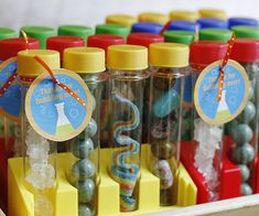 Bubbling punch, funky experiments, and test tube party favors…this mad scientist #birthday party will earn an A+ from your child and her friends. http://www.parents.com/fun/birthdays/themes/mad-scientist-party/?socsrc=pmmpin130529bpMadScientist