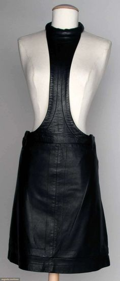 Cardin Black Leather Skirt, C. 1970, Augusta Auctions, November 13, 2013 - NYC
