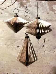 Daryl McMahon: Paper baubles
