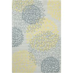 Found it at Wayfair - Stella Patterned Contemporary Wool Gray/Yellow Area Rug