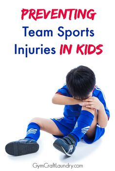 Advice for moms and dads of children participating in team sports on preventing sports injuries and accidents.