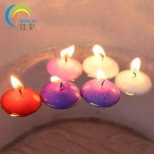 10 pcs Valentine cadeau romantique flottant votive bougie sans fumée non parfumé eau bougie d'anniversaire tea lights mariage décoration(China (Mainland))