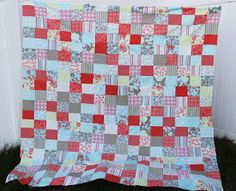 The Stitching Scientist: Easy Fat Quarter Patchwork Quilt Top with Free Pattern