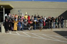 Costume contest participants on Halloween