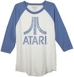 9a1c2055c Atari Distressed Logo Baseball Shirt for Adults Baseball Shirts, Tee Shirts,  Tees, Classic
