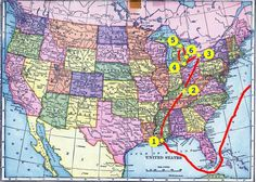The travels of Michael and Catherine McCormack from 1853 to 1913.