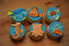 Finding Nemo Cupcakes from cakeswebake.com that has a LOT of cute ideas!
