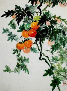 (North Korea) Tomatoes by Kim Jae-hyeok (1940-  )
