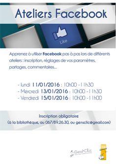 """Escapages: Ateliers Facebook chez """"Gens clic"""" - EPN de la Bibliothèque locale de Nivelles"""