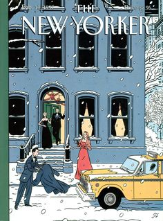 "The New Yorker - Monday, February 10, 1997 - Issue # 3740 - Vol. 72 - N° 46 - Cover ""Ole"" by ""Floc'h"" - Jean-Claude Floch"