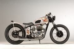 """1971 Triumph T100 Tiger """"Boy Racer"""" Bobber. Grease Monkey, Monza, Italy."""