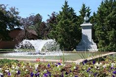 The Casimir Pulaski Fountain, located in McGlachlin Park in Stevens Point, WI