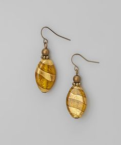 Take a look at this Gold Topaz Stripe Drop Earrings by Embassy Jewels on #zulily today!