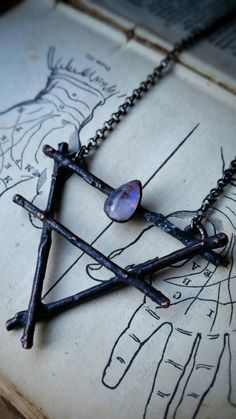 Earth and Moon Necklace by TaxilHoax on Etsy