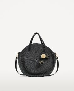 BRAIDED TOTE BAG WITH POMPOMS-Woven bags-BAGS-WOMAN | ZARA United States