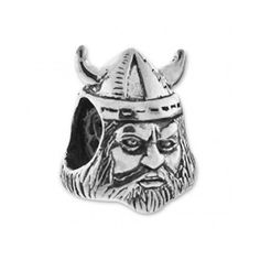 Viking Charm Bead European Carlo Biagi .925 Sterling Silver BS-345 great for the Minnesota Vikings fan!