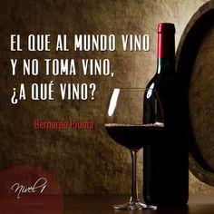 """""""El que al mundo vino y no toma vino ¿a qué vino?"""" #vino #wine #winelovers"""