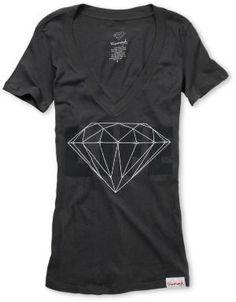 Diamond Supply Diamond Life Girls Charcoal V-Neck Shirt at Zumiez : PDP