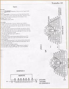 Crochê Leka: Tapete Oval com gráfico