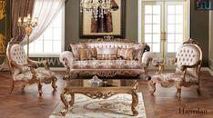 Sofa Mewah Klasik - Furniture Jepara - Furniture Jepara Luxury Home Furniture, European Furniture, European Home Decor, French Furniture, Classic Furniture, Custom Furniture, Royal Sofa, Victorian Sofa, Sofa Colors
