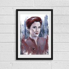 Kira Nerys Star Trek Inspired Unframed Art Print by SefieRosenlund by Sefie Rosenlund @ Etsy. Drawing Tablet, Wacom Intuos, A3, Star Trek, Digital Art, My Arts, Art Prints, Inspired