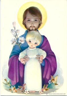 Jesus Cartoon, Jesus E Maria, Spanish Artists, Infancy, Paintings I Love, St Joseph, Sacred Art, Religious Art, Holidays And Events