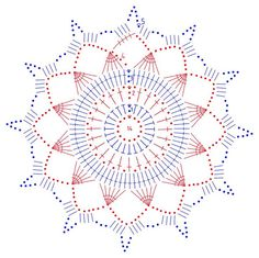 snowflakes crochet 252 schema