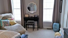 Curtains Don't Drape Well? Try These Easy Homemade DIY Curtain Weights - Robin Kramer Writes Drop Cloth Curtains, Drapes Curtains, Shades Of Grey Paint, Old End Tables, Curtain Weights, Hanging Curtain Rods, Homemade Curtains, Creative Home, Home Improvement