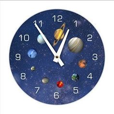 Decorative Outerspace Solar System Wall Clock If you know someone who loves outer space consider getting them unique and cool unique space gifts for adults. These gifts are truly amazing on a galactic scale. You will appreciate these gifts include outer space home décor, super cool cosmic jewelry and super outer-space home décor. Either way these gifts are great for those in love with the cosmos