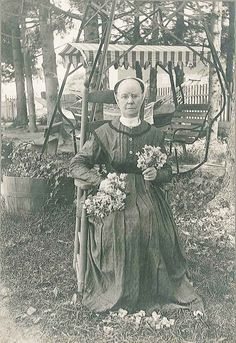 Sister Margaret Egleston (1843-1925, Mount Lebanon, NY). On December 28, 1923, a fire broke out in the Second Family that threatened not only the chair factory, but half a dozen Shaker workshops and buildings. Seventy-five year old Eldress Margaret jumped to action organizing the Shaker sisters in a bucket-brigade hauling buckets of water up to the roofs of the burning buildings. Read about Margaret's story at www.shakerml.org/exhibitions Shaker Museum | Mount Lebanon