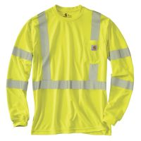 When you need to remain visible on the job, rely on the Carhartt® Force Class 3 High-Visibility Long-Sleeve T-Shirt for Men. The Scotchlite™ reflective material is ANSI Class Level Safety Workwear, Safety Clothing, Free Logo, Carhartt, Work Wear, Sweatshirts, Tees, Long Sleeve, Mens Tops
