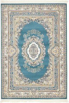 Blue Classic Aubusson Area Rug 5x8 $199