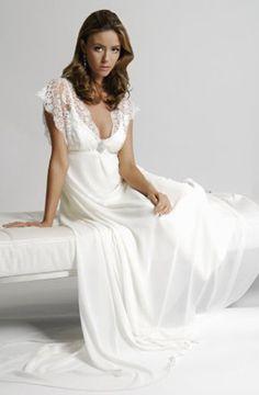 Nightgown Satin Cly Sleepwear Nightwear Vintage Slip