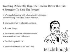 Teaching Differently Than The Teacher Down The Hall