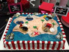 Creative Picture of Pirate Birthday Cake Pirate Birthday Cake Pirate Cake How To Party Ideas Pirate Birthday Pirate Party Pirate Birthday Cake, Themed Birthday Cakes, 4th Birthday Parties, 5th Birthday, Birthday Ideas, Birthday Cake Pictures, Pirate Theme, Pirate Food, Party Cakes