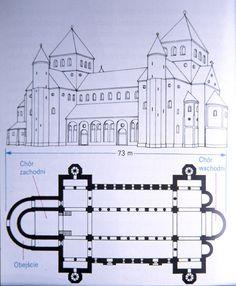 kościół św. Michała w Hildesheim, plan