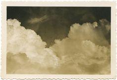 Clouds. Found photo.