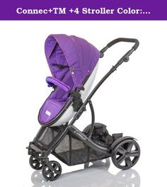Connec+TM +4 Stroller Color: Purple. G+GC4PURPLE Color: Purple Features: -Product Type:Standard strollers -Color:Beige -Color:Black -Color:Blue -Color:Multi-Colored -Color:Purple -Color:Red -Distressed:No. Dimensions: -Overall Width - Side to Side:26 -Overall Depth - Front to Back:36 -Overall Product Weight:29.
